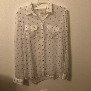 Abercrombie & Fitch white sheet blouse